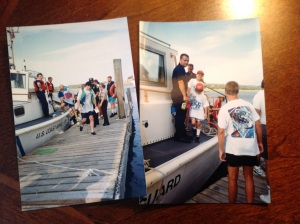 My Mom took photos as we got back to the dock. I was embarrassed then, but glad now.